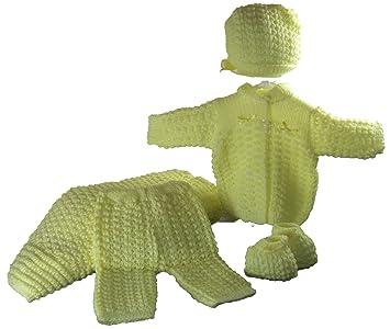 1f48e4bcd Amazon.com   5 Pcs Knit Crochet Unisex Baby Set Blanket