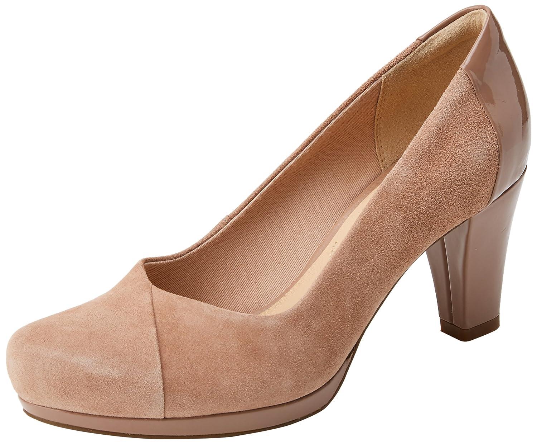 Clarks Chorus Carol, Zapatos de Tacón para Mujer 41 EU|Beige (Beige Combi)