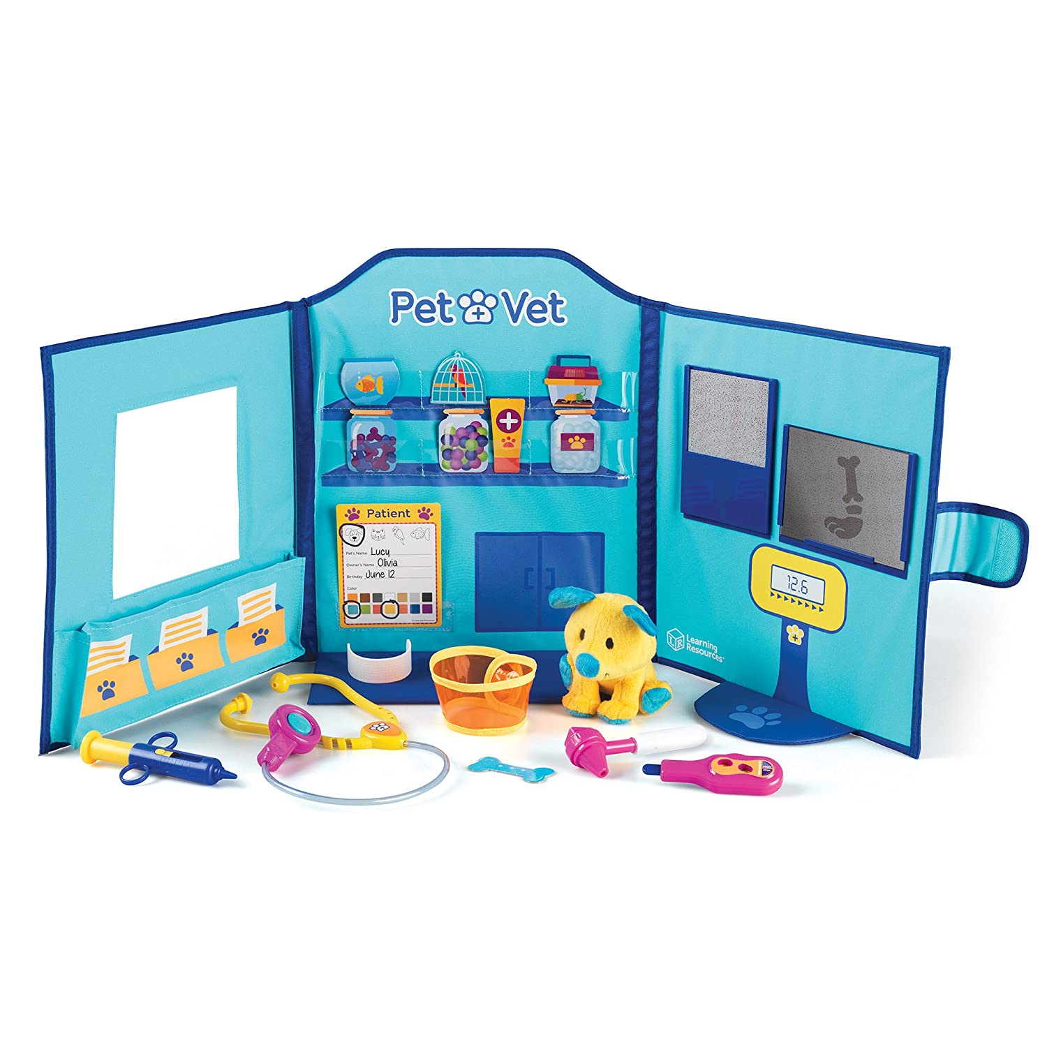 Learning Resources Pretend and Play Pet Vet Hospital LER2660 Learning_and_Exploration School Educational Aids