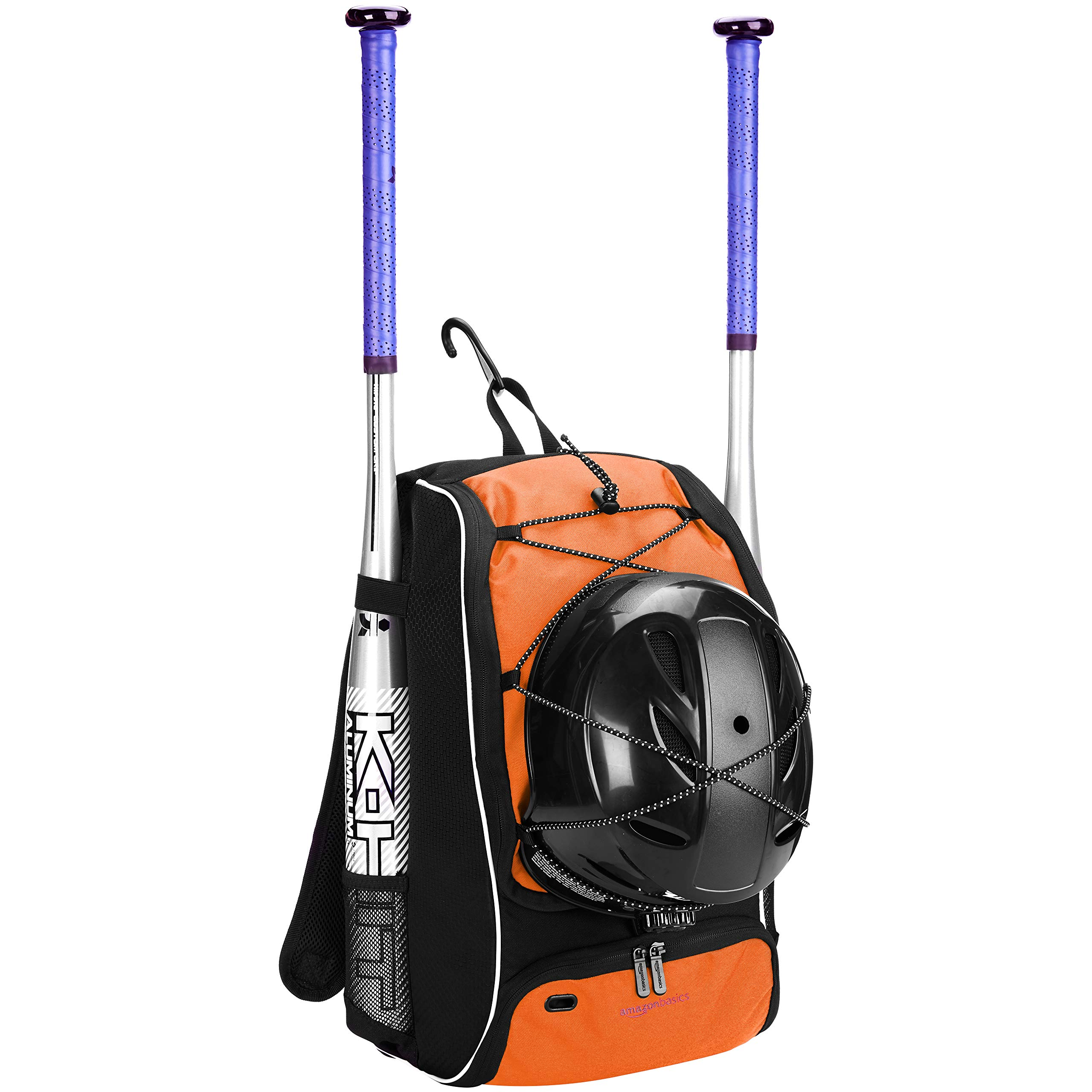 AmazonBasics Youth Baseball Equipment Backpack, Orange by AmazonBasics (Image #1)