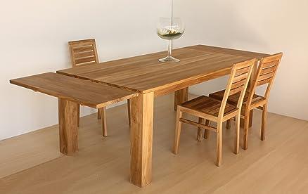 Tavolo allungabile in legno massiccio Teak NATURALE - Collezione ...
