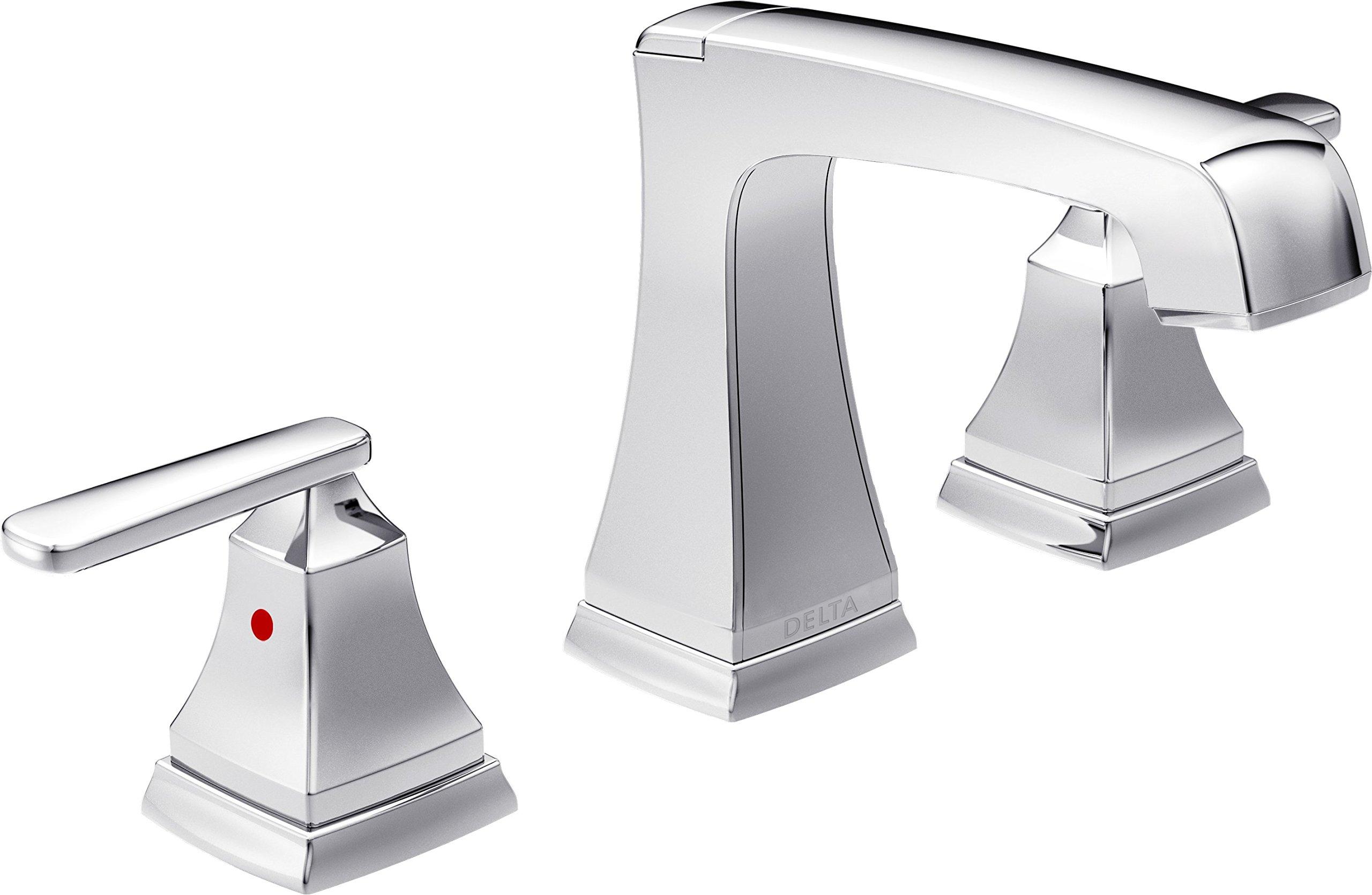 Delta Faucet 3564-MPU-DST Ashlyn Two Handle Widespread Bathroom Faucet, Chrome