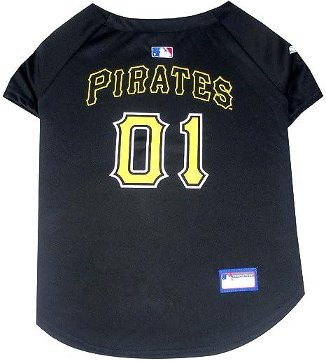cdc6c627f8c Amazon.com   Pets First MLB Pittsburgh Pirates Dog Jersey