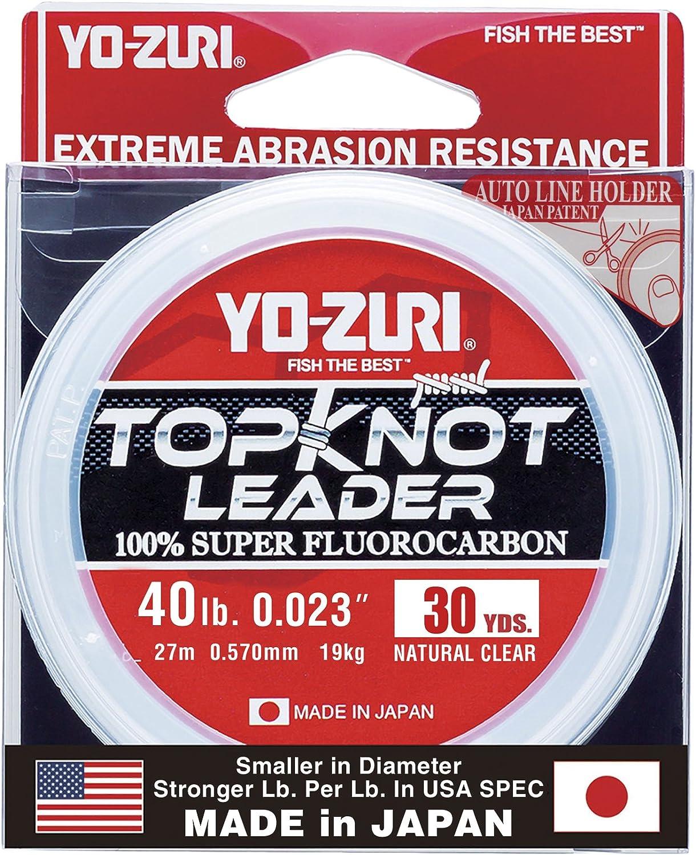 40 lb Natural Clear Yo-Zuri Topknot 30 yd Sinking Leader