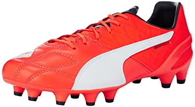 Puma Evospeed SL FG, Herren Fußballschuhe, Orange (Lava Blast-White-Total Eclipse 01), 39 EU (6 Herren UK)