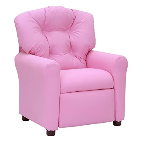 Fabulous Amazon Com Traditional Kids Recliner Chair Pink Kitchen Andrewgaddart Wooden Chair Designs For Living Room Andrewgaddartcom