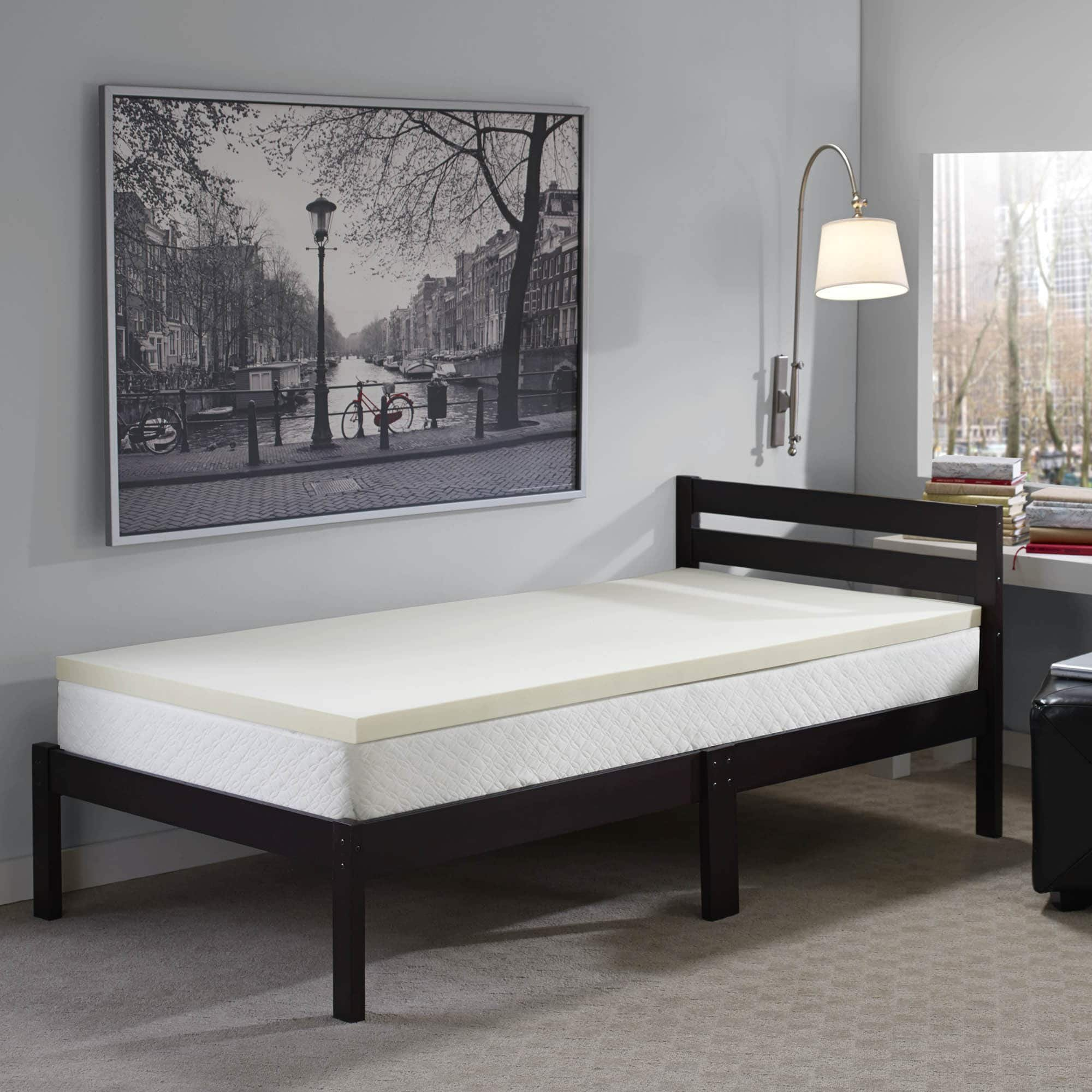Touch of Comfort Back-to-School and Dorm 2-inch Twin XL-Size Memory Foam Mattress Topper