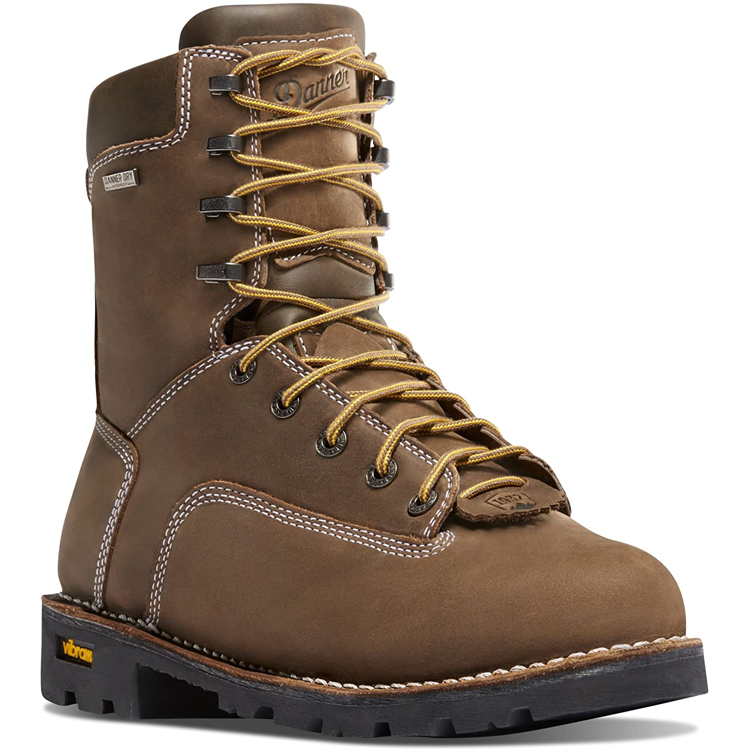 "gritstone 8"" Brown 400G (14228) Vibram Sole Oil & Slip Resistant  Waterproof  Electrical Hazard Boot Leather  Climb Mountains"