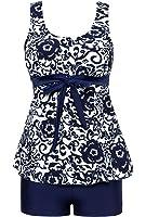 MiYang Women's Plus Size High Waist Printing Swimsuit Bathing Swimwear
