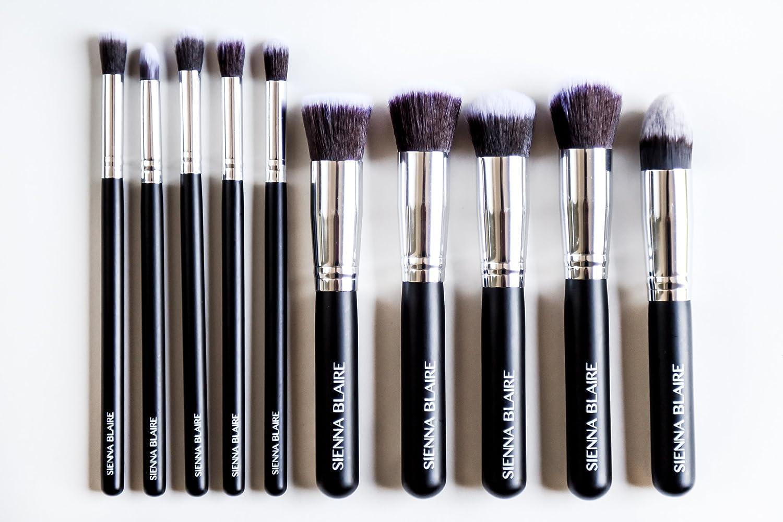 ad53857d4994 Amazon.com: Sienna Blaire Beauty 10 Pcs Travel Makeup Brushes ...