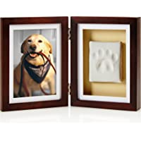Pearhead Dog or Cat Paw Print Pet Keepsake Photo Frame With Clay Imprint Kit, Perfect Keepsake Frame for Pet Lovers