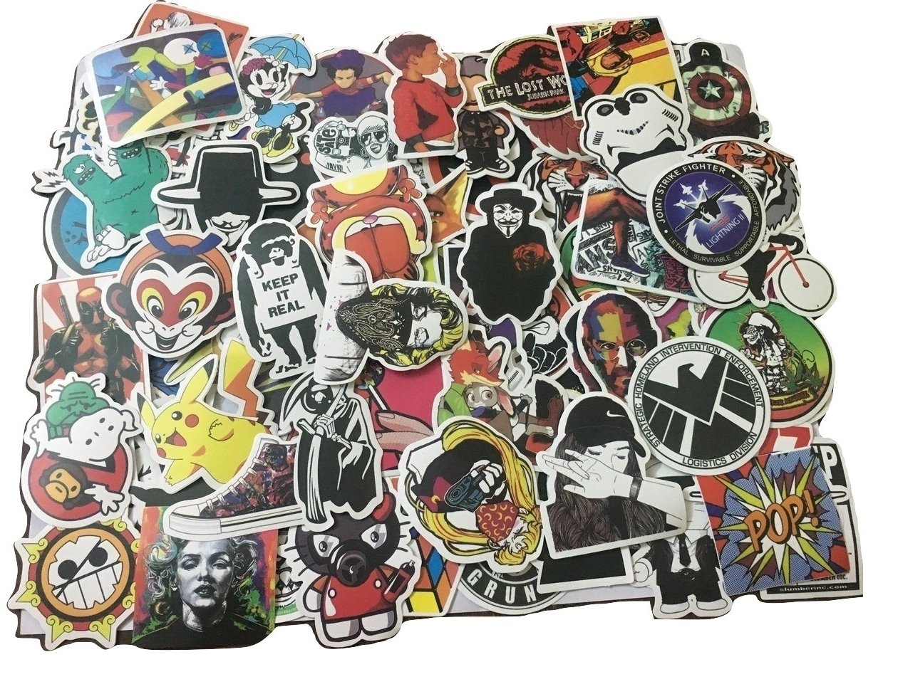 Buy chronex 100pcs cool vinyls graffiti stickers to personalize laptops skateboards luggage cars bumpers bikes online at low prices in india amazon