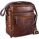 STILORD 'Nathan' Bolso bandolera pequeño hombres de piel Mensajero / Bolso de piel hombres Vintage Tablets & Apple iPads hasta 10,1 pulgadas , Color:marrón - antico