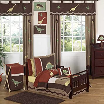 Amazon.com : Sweet Jojo Designs 5-Piece Dinosaur Toddler Bedding Boy ...
