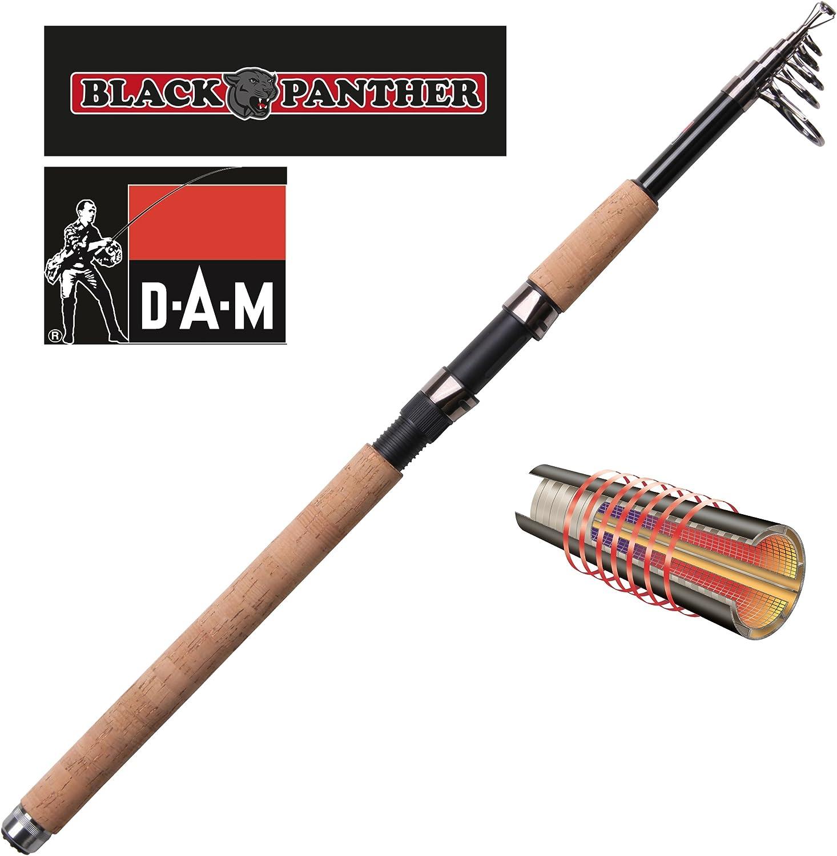 DAM Black Panther Tele 20 - Caña de Pesca Spinning (telescópica ...