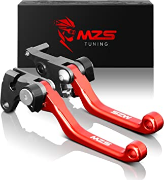 MZS 7//8 Brake Master Cylinder Reservoir Pivot Levers for Honda Yamaha Suzuki Kawasaki KTM and more Red Honda Brake Clutch CNC Levers Set 7//8 Brake Lever Set