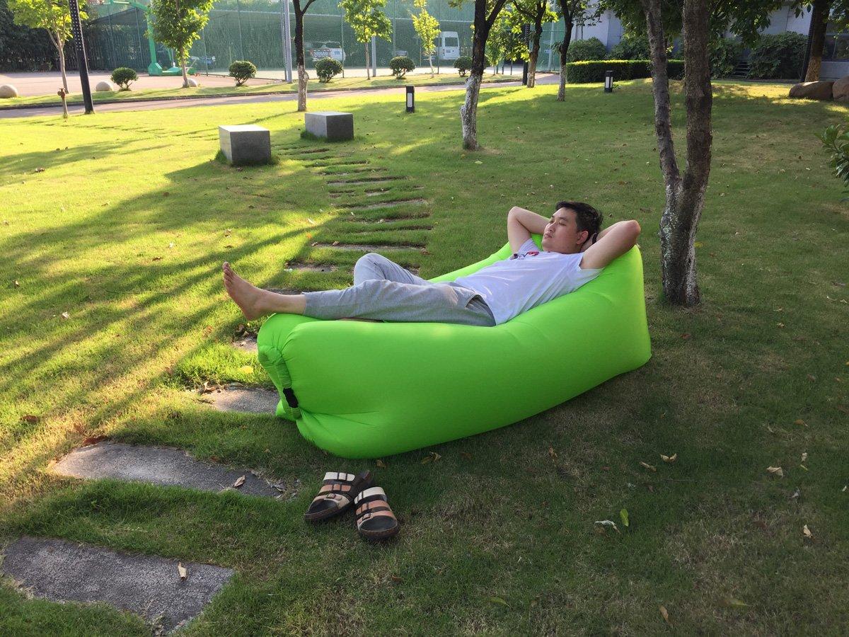 JD bolsa inflable sofá tumbona silla portátil saco de dormir para Camping, camas de aire, colchones de aire, camas. Ideal para descansar, Camping, playa, ...