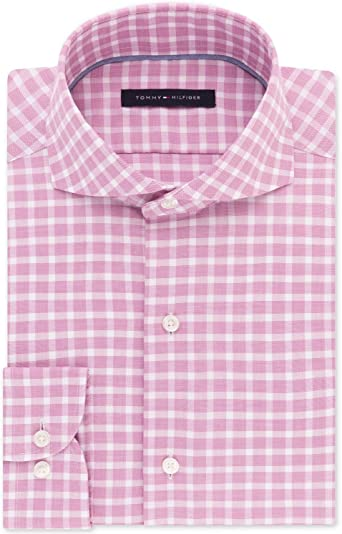 Tommy Hilfiger Men's ClassicRegular Fit Non Iron Stretch