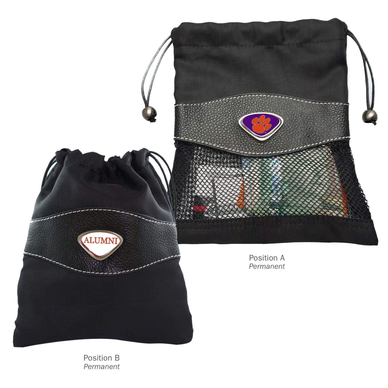 Black AdSpec NCAA Clemson Tigers Collegiate Valuables BagCollegiate Valuables Bag One Size