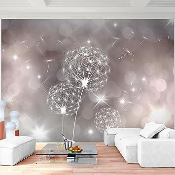 Fototapete Pusteblumen Vlies Wand Tapete Wohnzimmer Schlafzimmer Büro Flur  Dekoration Wandbilder XXL Moderne Wanddeko Flower 100