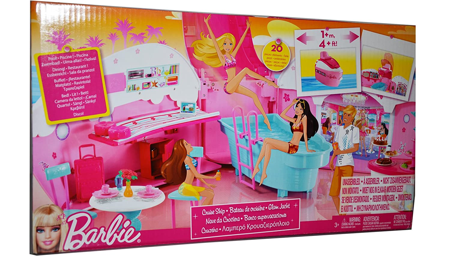 Amazon.com: Barbie Party Cruise Ship Exclusive Playset: Toys & Games