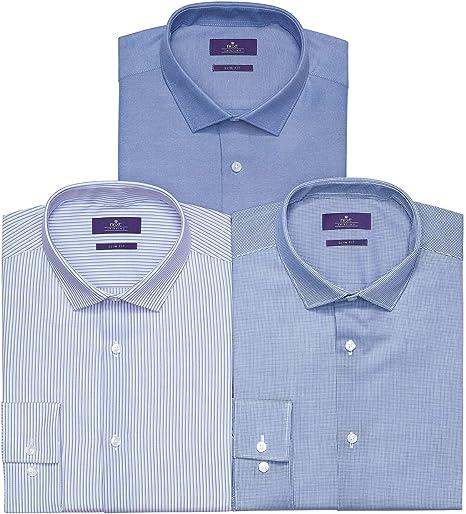 next Hombre Pack De Tres Camisas Azul 21L: Amazon.es: Ropa