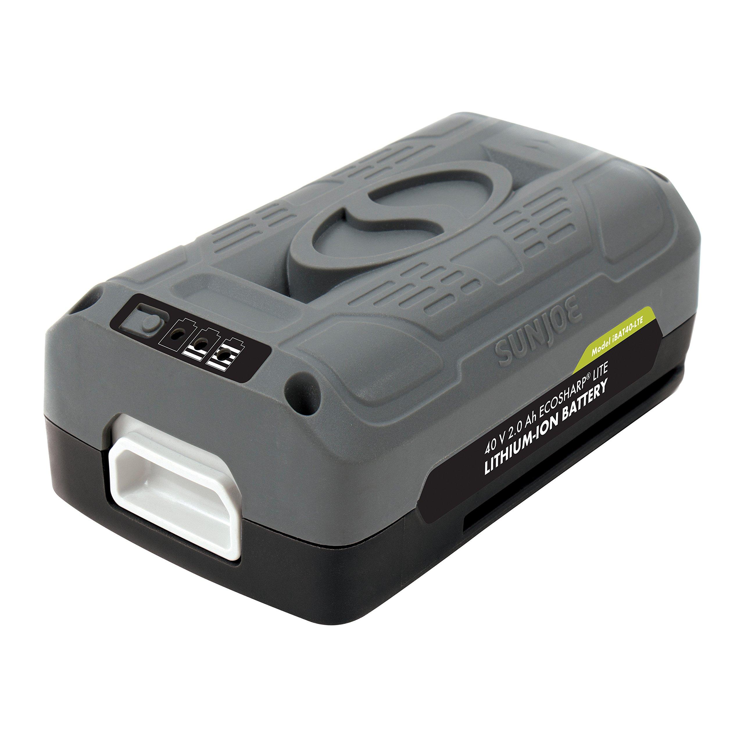 Snow Joe + Sun Joe iBAT40-LTE iON EcoSharp PRO 40 V 2.0 Ah Lithium-Ion Battery