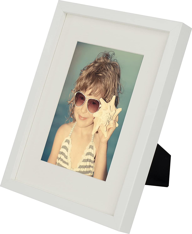 Amazon.de: 20 x 25 cm Bilderrahmen mit Passepartout 13 x 18 cm, Weiß