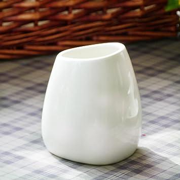 amazon com simple tall white ceramic flower vase kissh home decor