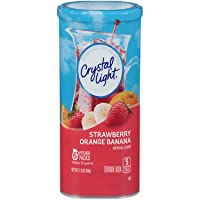 Crystal Light Drink Mix, Strawberry Orange Banana, Pitcher Packets, 6 Count (Pack of 12 Canisters)