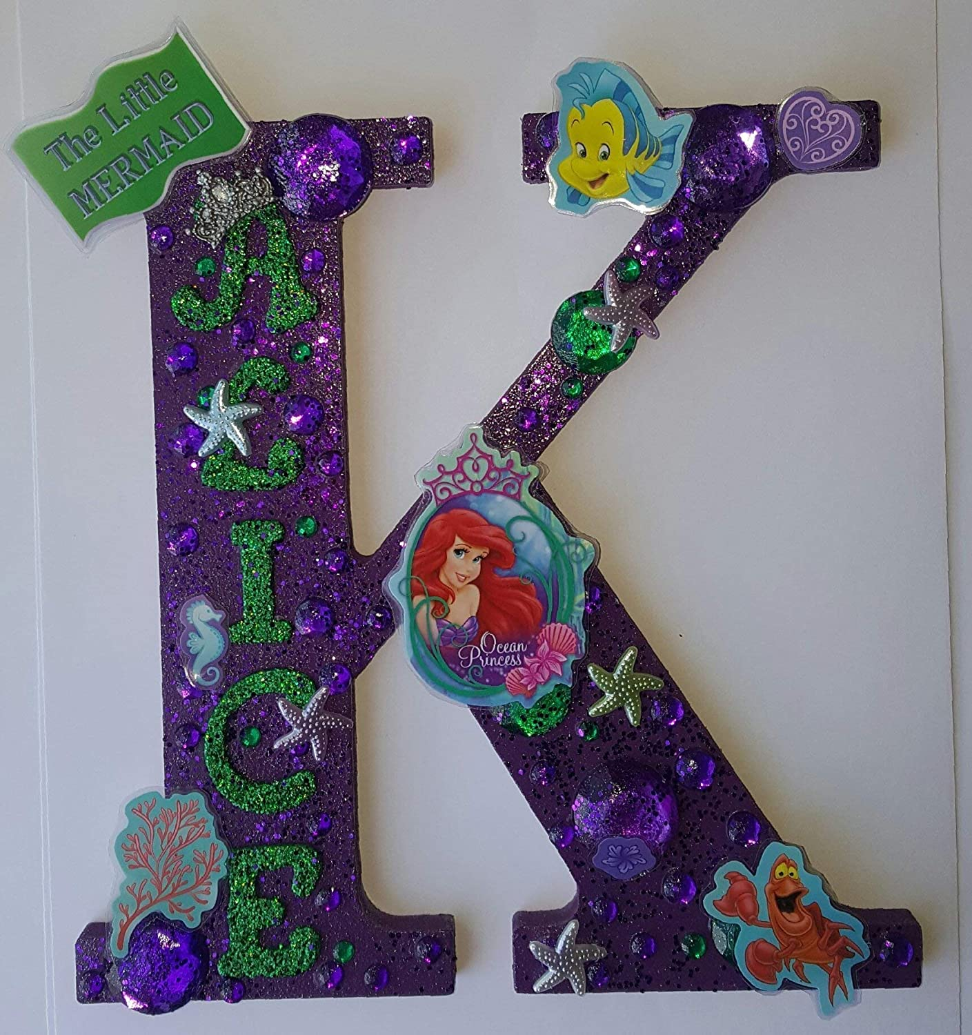 Amazoncom Ariel The Little Mermaid Wooden Letters Large8 Any
