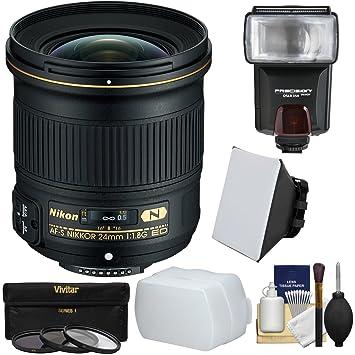 【クリックで詳細表示】Nikon 24?mm f / 1.8g af-s Ed Nikkorレンズwith 3フィルタ+フラッシュ+ソフトボックス+ディフューザー+キットfor DSLRカメラ