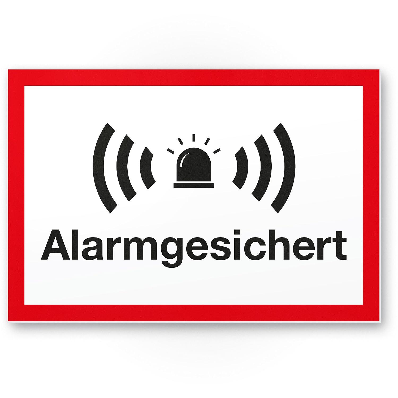 Alarma gesic Hert Cartel (Blanco de rojo 30 x 20 cm ...