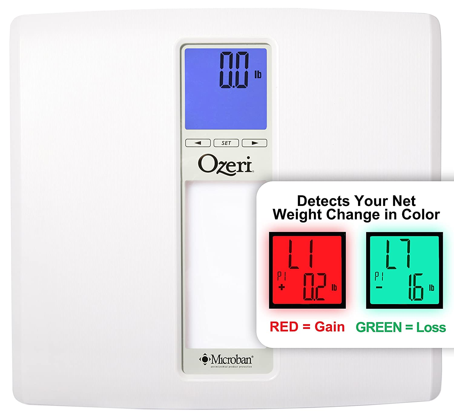 Ozeri ZB20 WeightMaster II 440 lbs Digital Bath Scale with BMI and Weight Change Detection, White ZB20-W