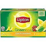 Lipton Green Tea, Lemon Ginseng 20 ct (Pack of 6)