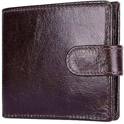 GDLXL Monedero Delgado para Hombre Bifold Minimalist Wallet ...