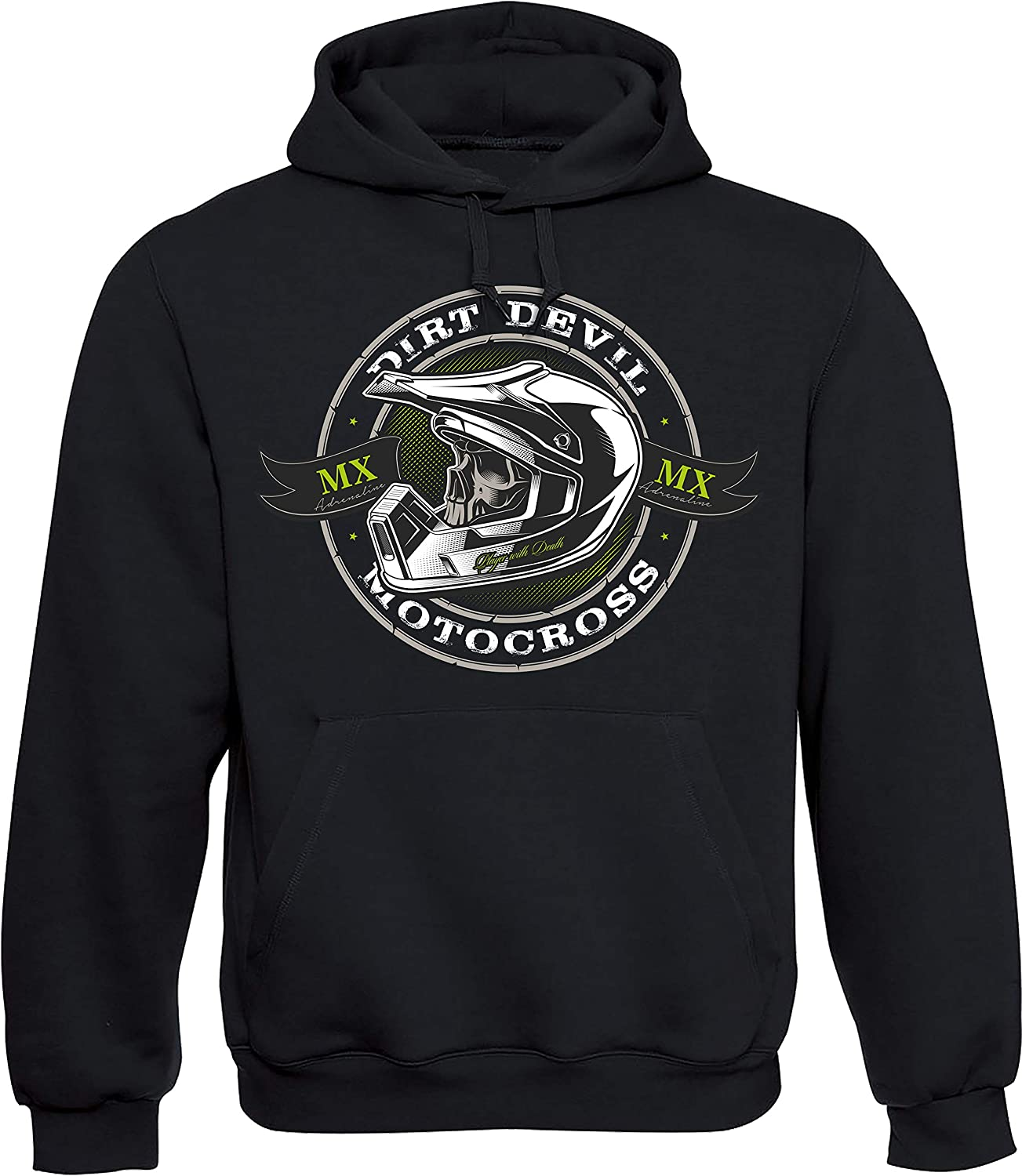 Sweat à Capuche: Dirt Devil Motocross Moto Sweater Moto Cross MX Biker Motocycle Quad Motocycliste Idée Cadeau Homme s Femme s Outdoor