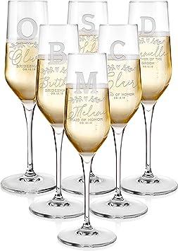 Personnalisé Mariage Champagne Verre Nom mariée demoiselle d/'honneur demoiselle d/'honneur
