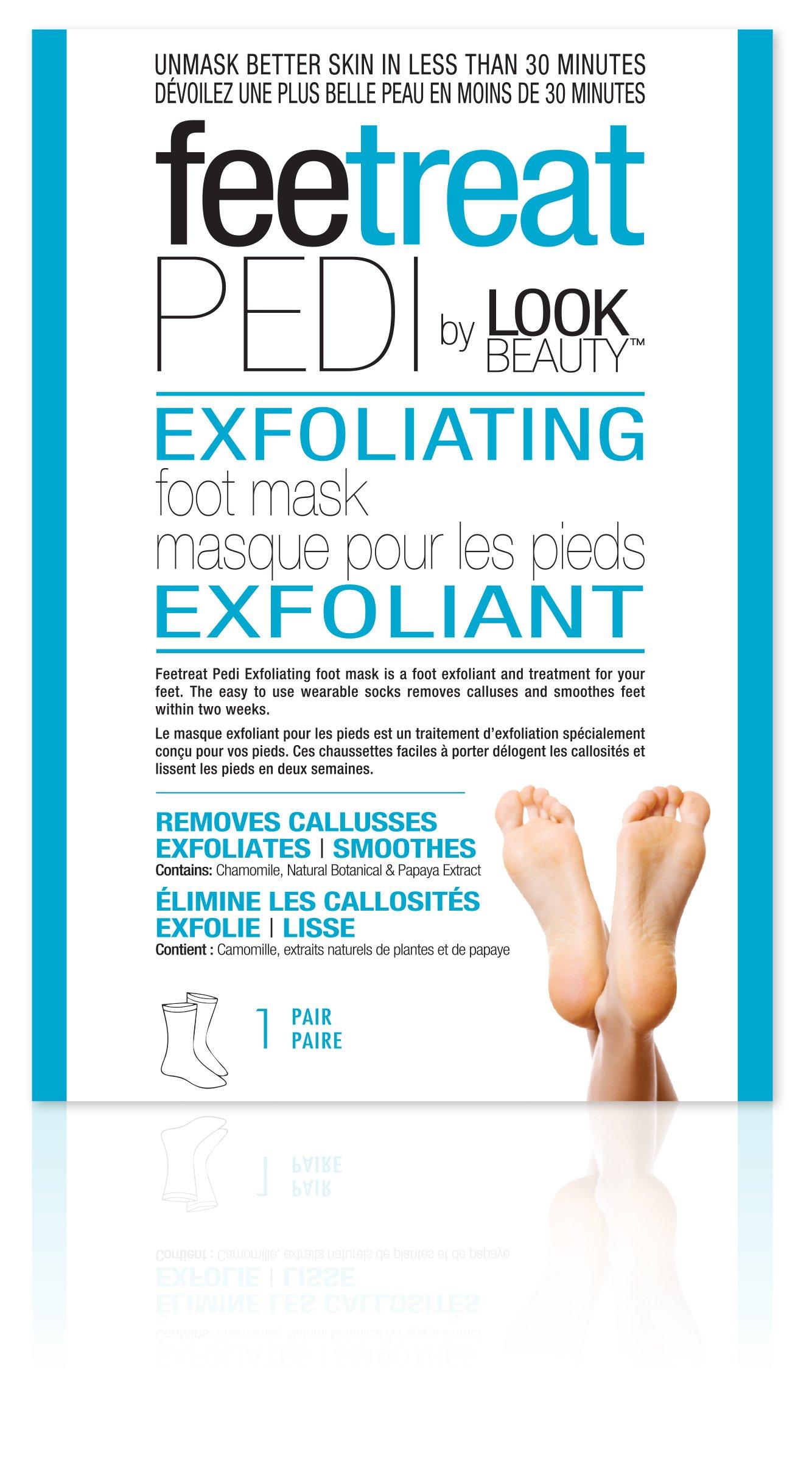 Masque Bar Exfoliating Foot Mask - 1 Pair, 0.23 Pound