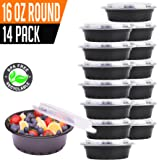 14 Pack- Chefible 16 oz Small MINI Round Storage or Bento Container, Meal Prep, Durable, BPA-free, Reusable, Washable, Microwavable, Perfect for Portion Control!
