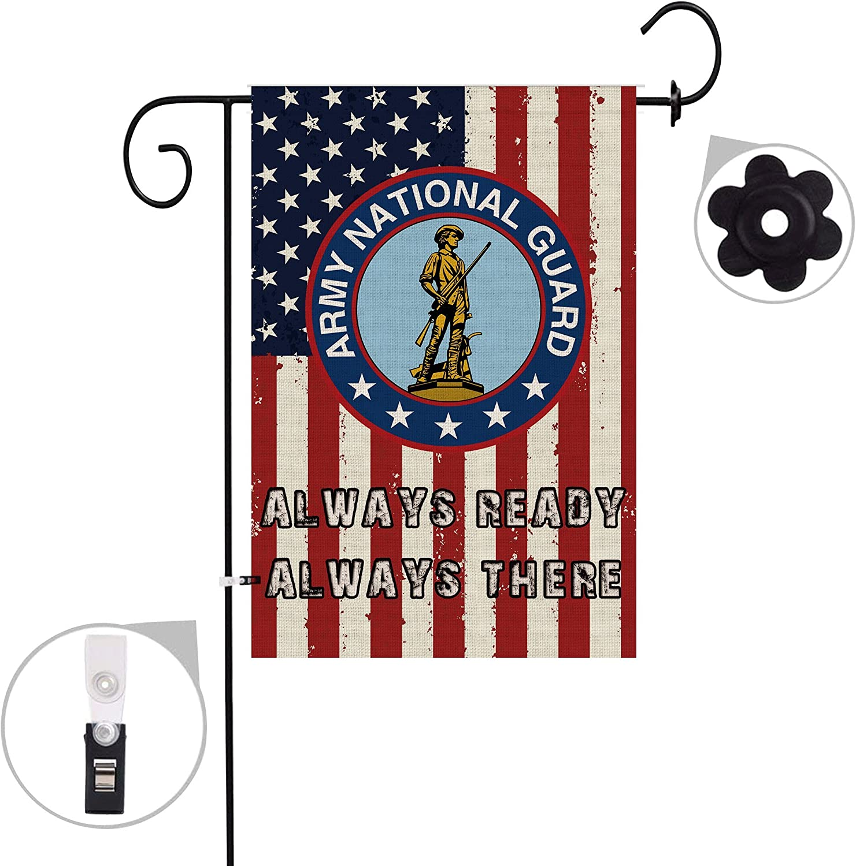 Hexagram National Guard Garden Flag Burlap Double Sided Military Yard Flag 12x18 inch Prime