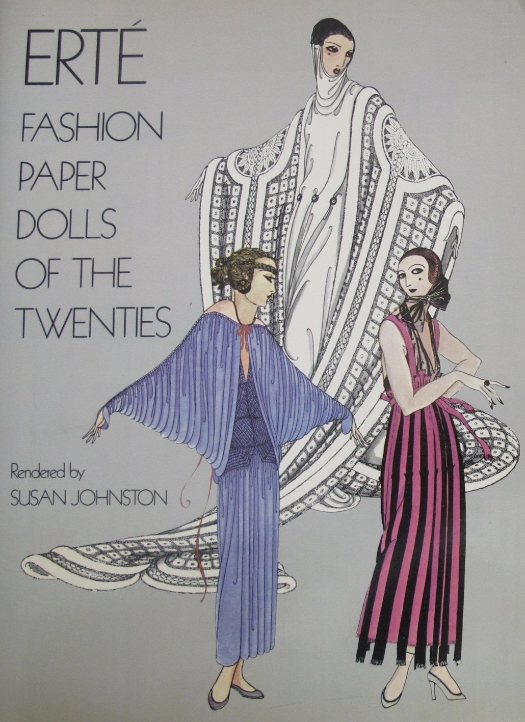 ERTE Fashion PAPER DOLLS of The TWENTIES BOOK (UNCUT) w 6 CUT OUT Card Stock DOLLS & 43 COSTUMES (1978 Dover)