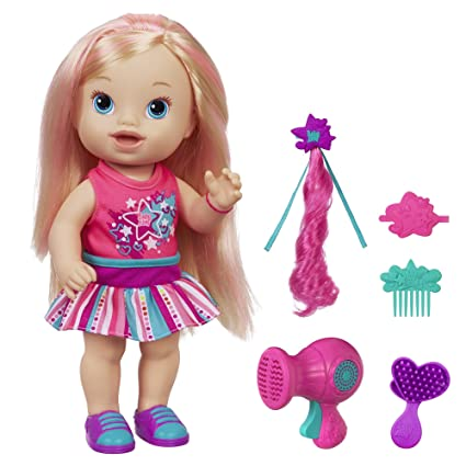 9271568a5717 Amazon.com: Baby Alive Play 'n Style Christina Doll (Blonde): Toys & Games
