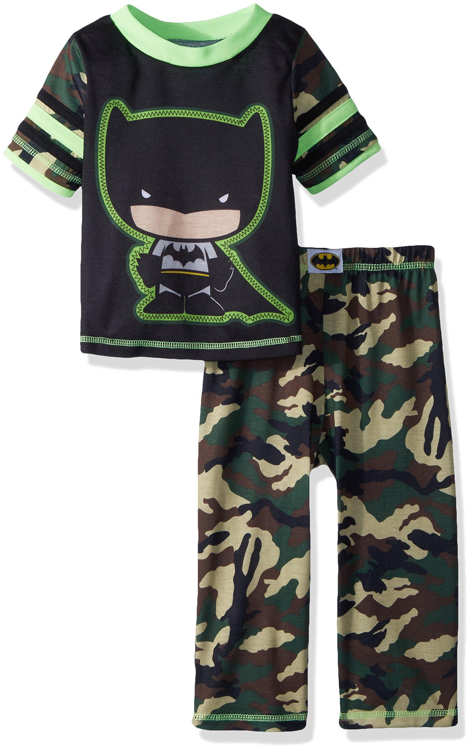 DC Comics Boys' Toddler Batman Camo 2 Piece Pajama Set
