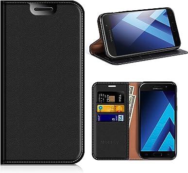 MOBESV Funda Cartera Samsung Galaxy A5 2017, Funda Cuero ...