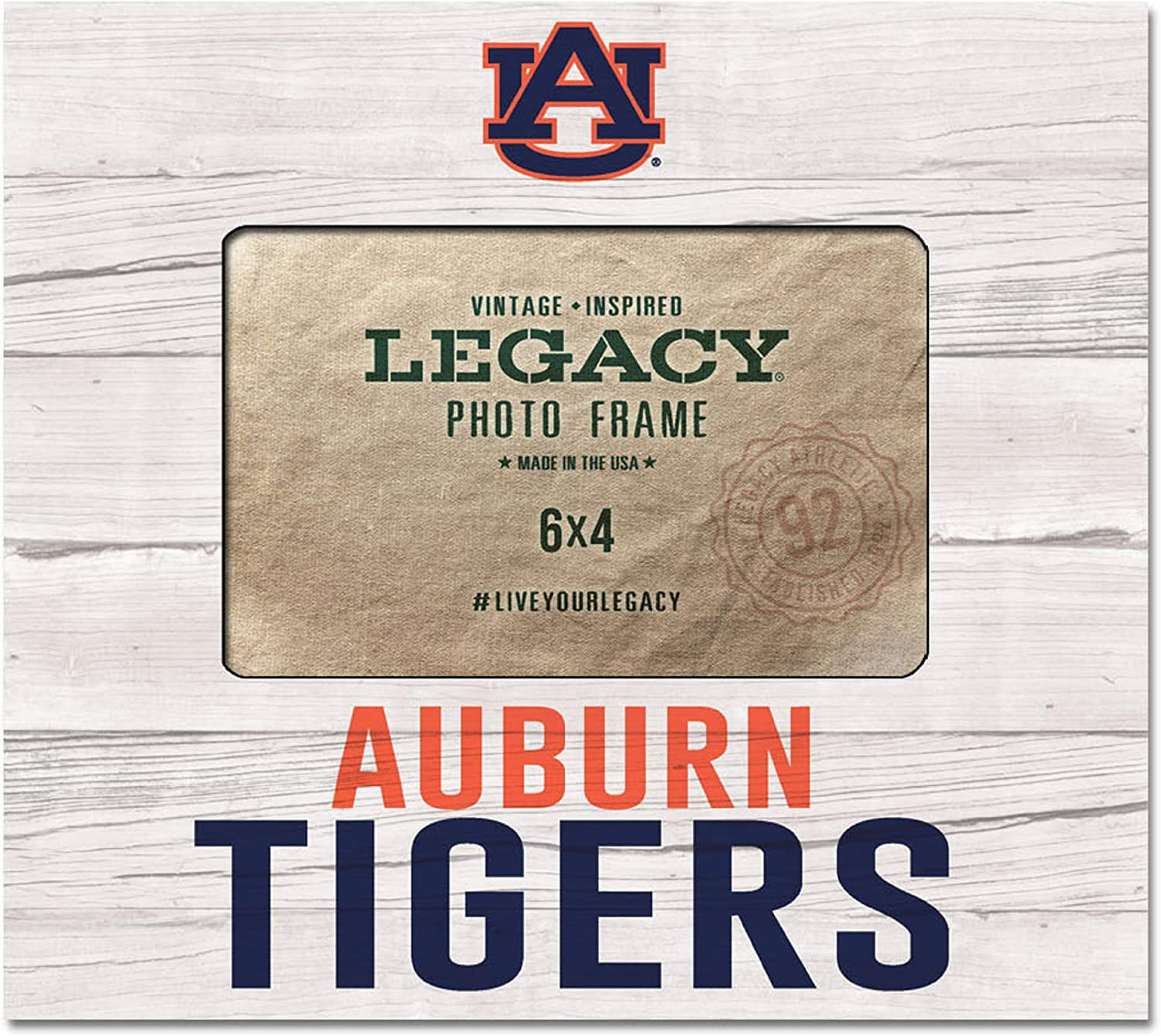 One Size Upper 8x9 Custom NCAA Legacy Auburn Tigers 4 x 6 Picture Frame