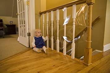 Amazon.com : Cardinal Gates Banister Shield 15u0027 Roll Clear : Indoor Safety  Gates : Baby