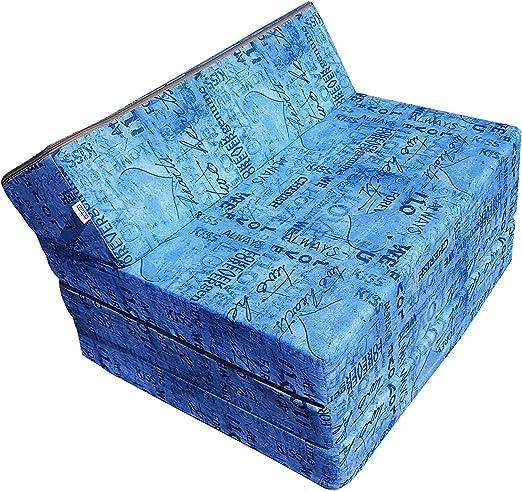 005 Matelas lit fauteuil futon pliable pliant choix des couleurs longueur 200 cm
