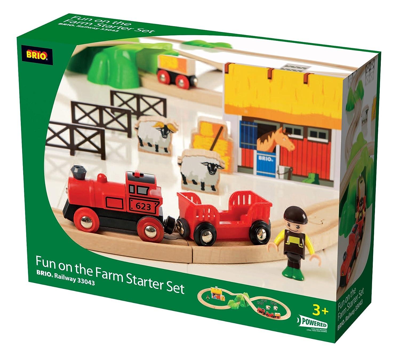 Circuit Brio 33043 F/ête au circuit en 8 de la ferme
