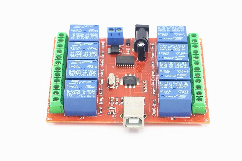 Garage & Shop SMAKNÂ 12v 8 Channel USB Relay Module Programmable
